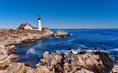 Póster Faro principal de Portland en Cape Elizabeth, Maine