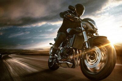 Póster Fast Motorbike