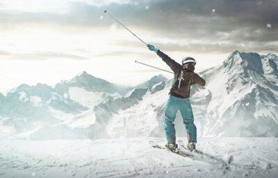 Póster Feliz esquiador