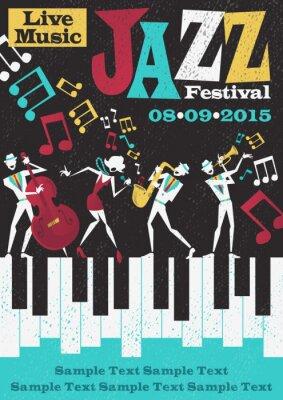 Póster Festival de Jazz abstracta retra del cartel