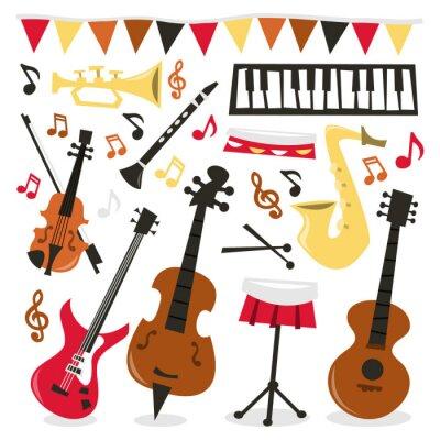Póster Fiesta Musical Retro