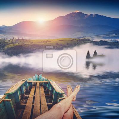 Fin de semana en un lago de montaña