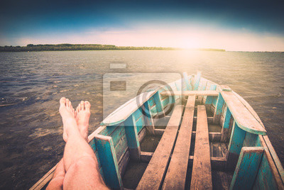Fisher en un barco 1. Instagram stylization