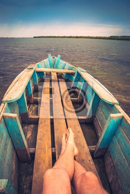 Fisher en un barco
