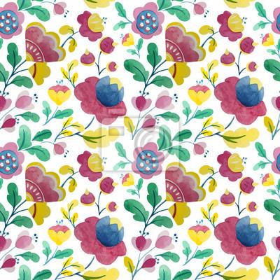 flores de la acuarela de fondo patrón de la naturaleza