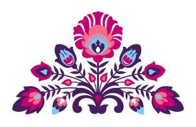 Póster Flores populares del estilo del papercut