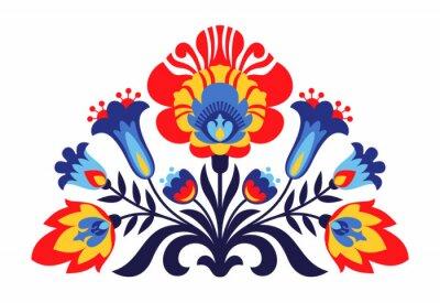 Póster Flores populares polacas inspiradas