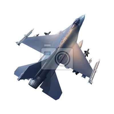 fondo blanco aislado avión a reacción militar