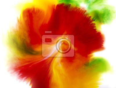 Fondo colorido abstracto del concepto flor, verde rojo y vosotros