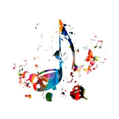 Póster Fondo colorido de la música