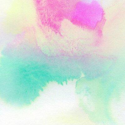 Póster Fondo de acuarela de colores de fondo pintado