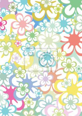 Fondo De Flores De Color Pastel Carteles Para La Pared Pósters