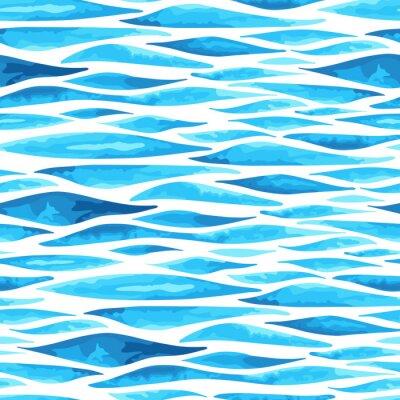 Póster Fondo horizontal transparente del mar