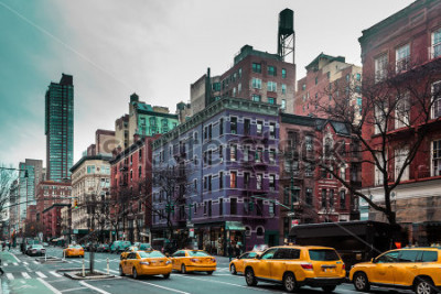 Póster Foto de edificios y calles de Upper West Site of Manhattan, Nueva York