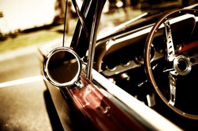 Póster fragmento coche retro