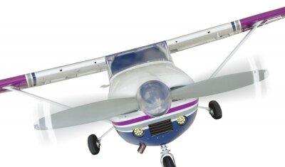Póster Frente, Cessna, 172, solo, propulsor, avión, blanco