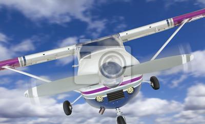Frente, Cessna, 172, solo, propulsor, avión, cielo