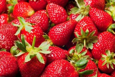 Póster fresas rojas