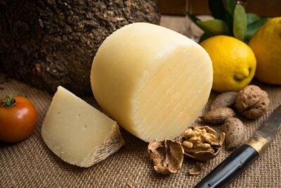 Póster Fresco de Pecorino, queso duro italiano