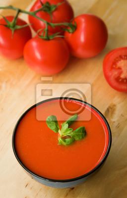 Fría español a base de tomate sopa de gazpacho