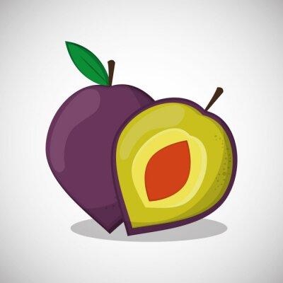 Póster Frutas icono de diseño