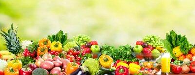 Póster Frutas y vegetales.