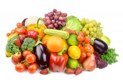 Póster frutas y verduras