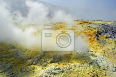 Fumarolas en el Gran Cráter