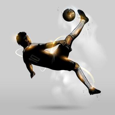 Póster fútbol abstracta Volea