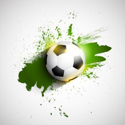 Póster Fútbol Grunge / bola de fútbol