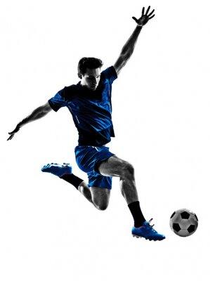 Póster futbolista italiano silueta del hombre