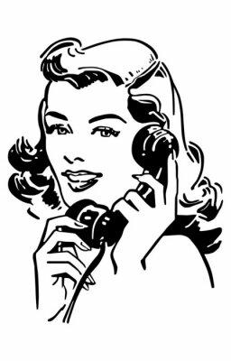 Póster Gal lindo en el teléfono