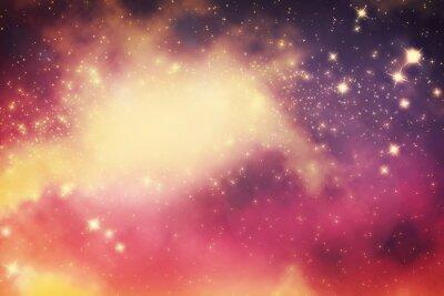 Póster Galaxia con las estrellas y el espacio universo de fantasía.