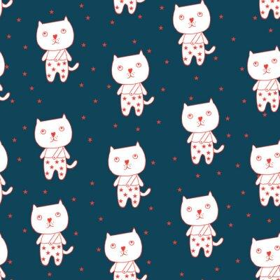 Póster Gato y estrellas
