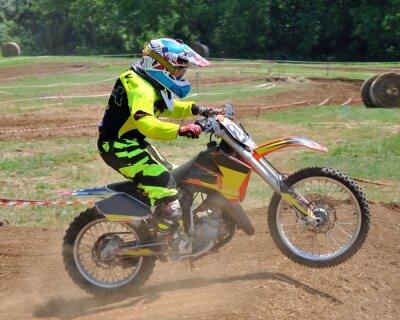 Póster Giovane di pilota motocross