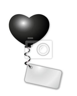 Globo del corazón con el mensaje