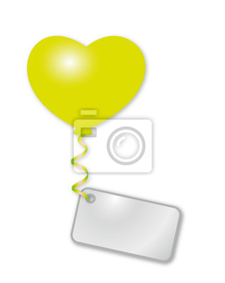 globo del corazón verde con mensaje