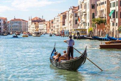Póster Góndola en Canal Grande en Venecia