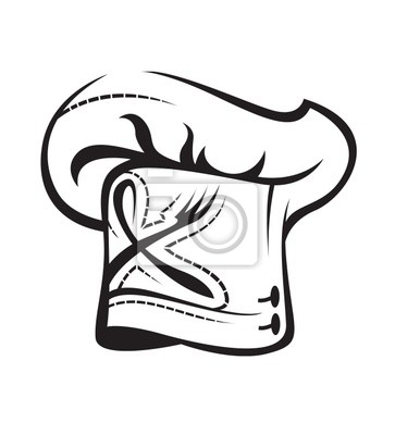 7b81e53468e8a Gorro de cocinero carteles para la pared • pósters hambre