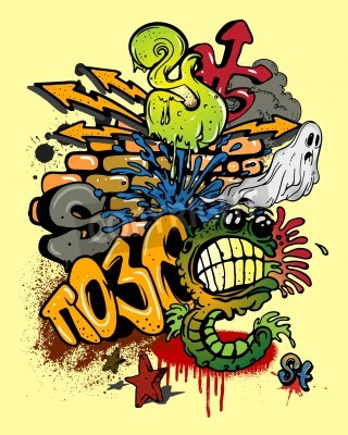 Póster Graffiti elements.
