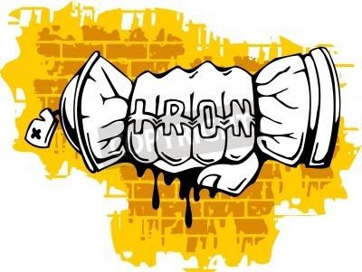 Póster Graffiti - Fist end Spray ballon.Vector Illustration. Vinyl-Ready.