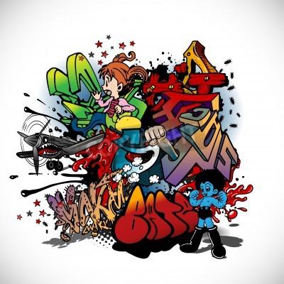 Póster Graffiti, urban art