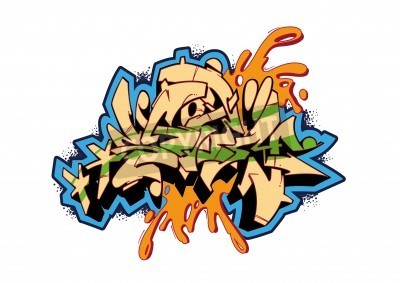 Póster Graffiti vector sketch design, word STORM. This is my illustration.