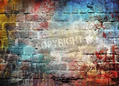 Póster Graffiti wall background
