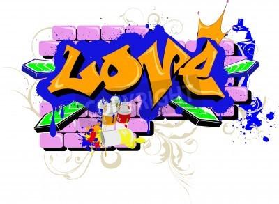 Póster grafitis murales aman Arte Urbano
