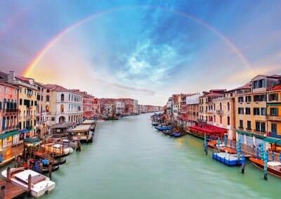 Póster Gran Canal - Venecia del puente de Rialto