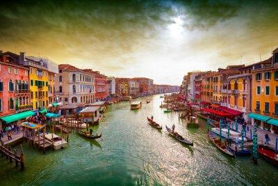 Póster Gran Canal, Venecia, Italia.