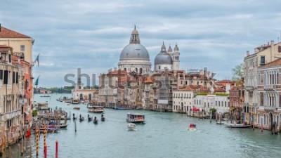 Póster Gran Canal y Basílica de Santa Maria della Salute, Venecia, Italia