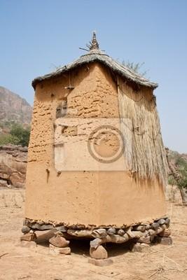 Graneros en una aldea de Dogon, Malí (África).