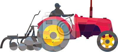Granjero de conducción vintage agricola usado bajo Polígono